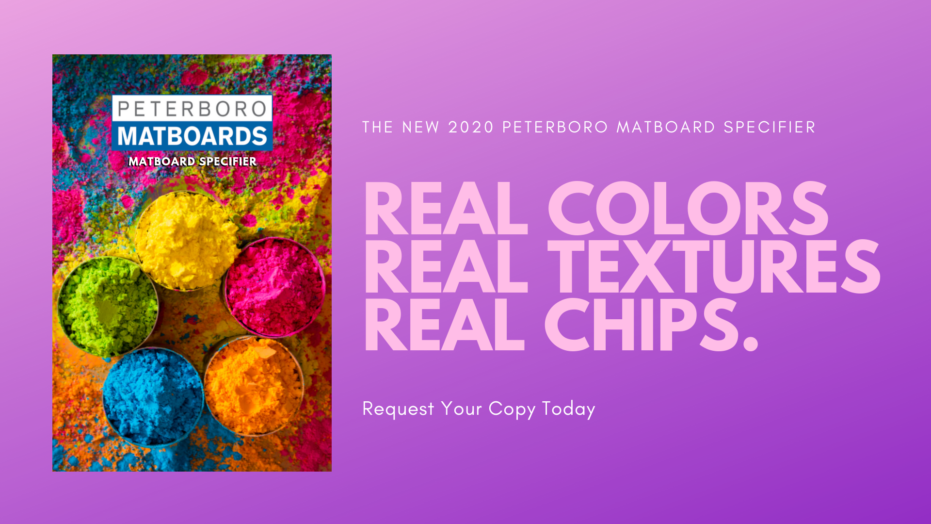 The New 2020 Peterboro Matboard Specifier - Real Colors, Real Textures, Real Chips